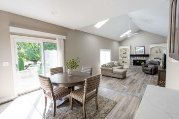 Eat in kitchen and living room after