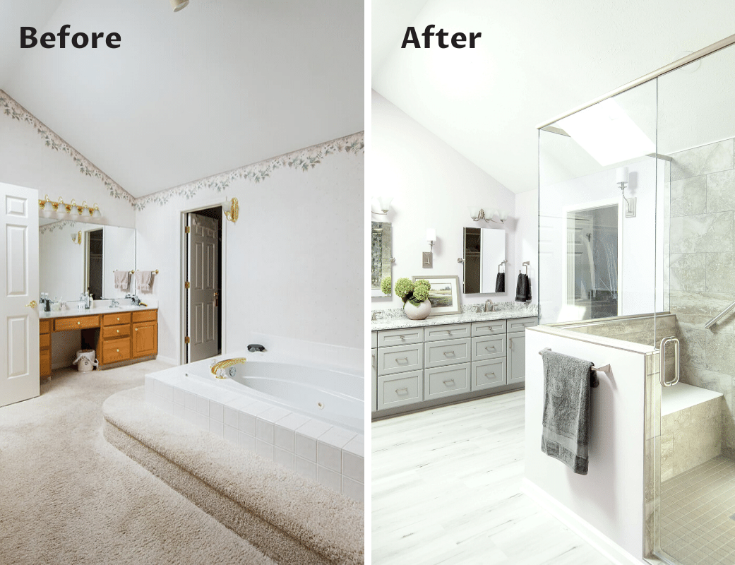 Before/After Bathroom Renovation