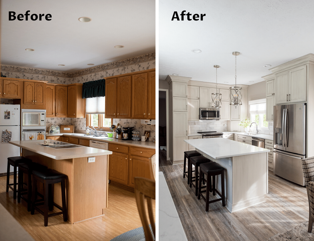 Complete Home Renovation - Kitchen before/after