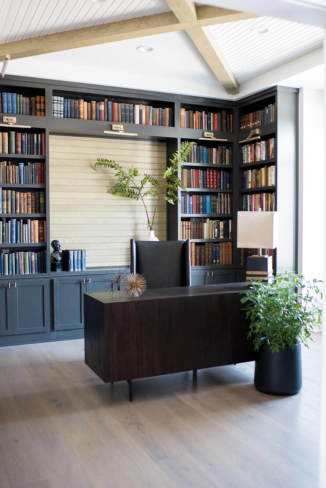 A well-read home office