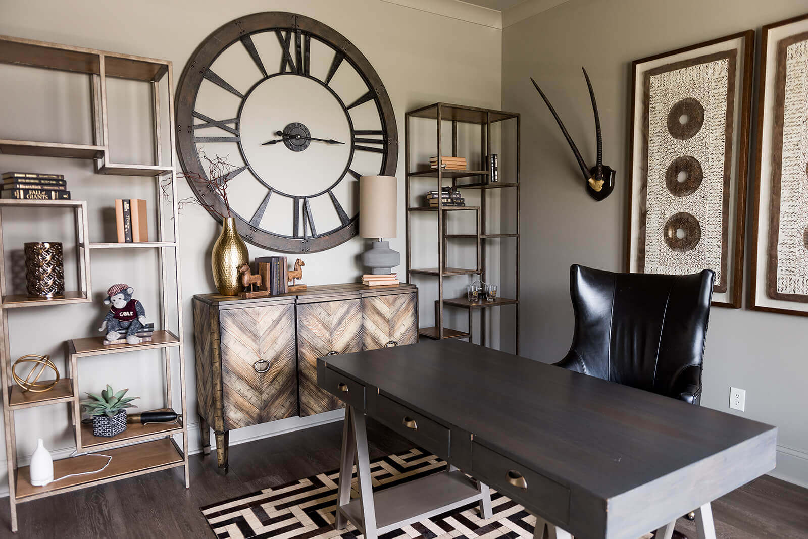 A decorated home office