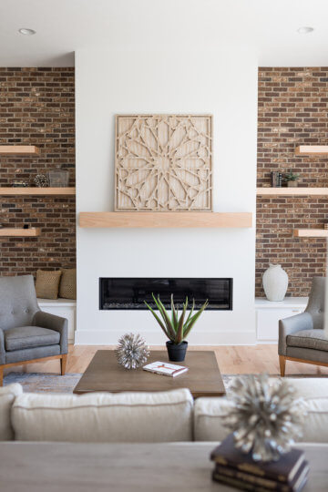 Timeless fireplace design
