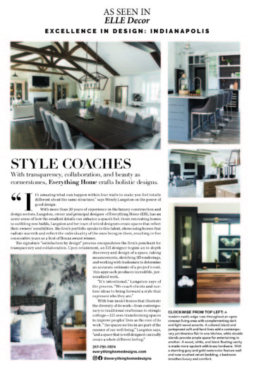 Everything Home Designs Featured in ELLE Decor Magazine